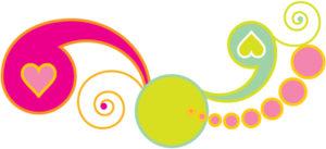 retro pastel swirls